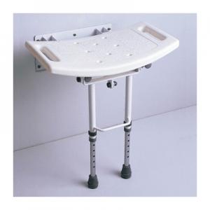 Asiento de ducha abatible con patas