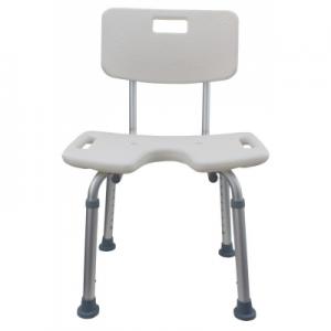 Silla de ducha de aluminio asiento en U