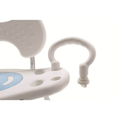 Silla de ducha giratoria 360º con respaldo