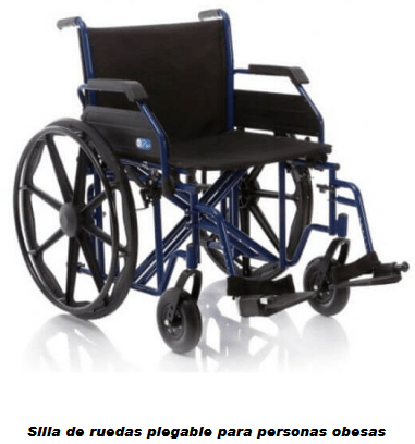 Silla de ruedas plegable para obesos